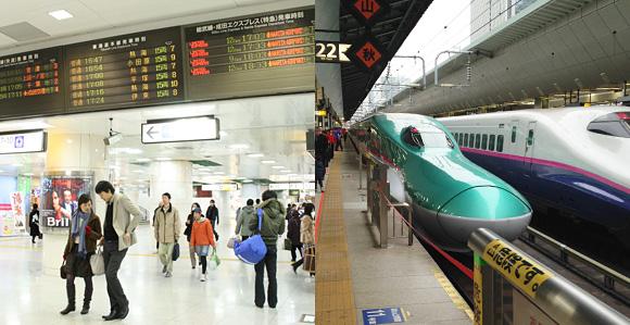 東京駅・新幹線ホーム