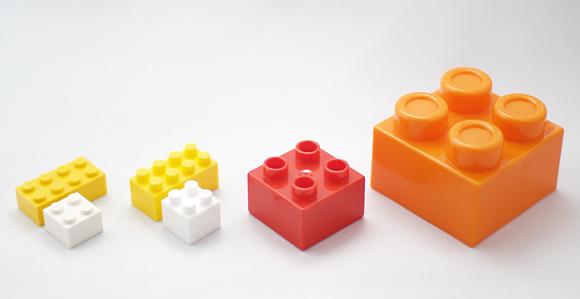 レゴ・ダイヤブロック・おおきなブロック比較